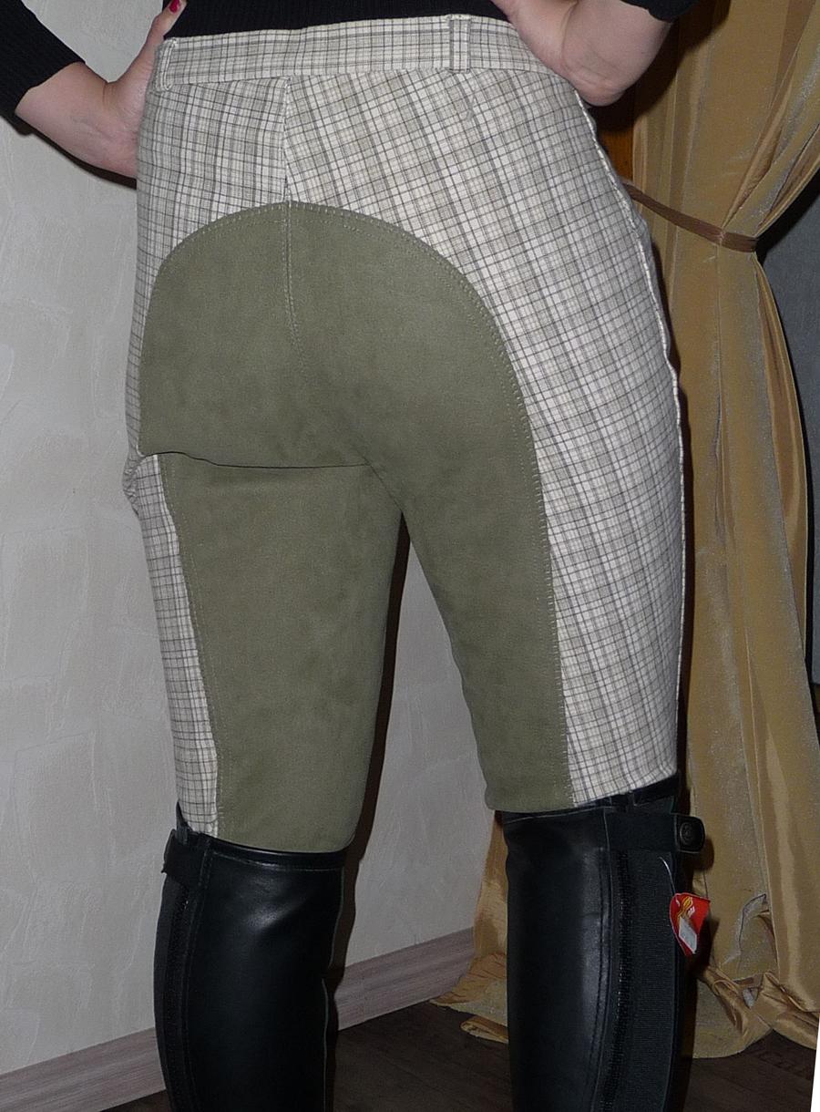 Reithose von Back2back Gr.40, creme,beige, braun kariert